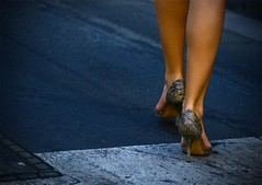Walking in High Heels (Ruben Daniel Mascaro Photography) Tags: woman girl lady canon shoes highheels legs australia melbourne upskirt calf vignetting sheila hotlegs calves canon30d canonef70200mmf4lusm mustang1430 terriseymour terryseymour