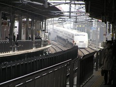 Nagoya Railway Station (Chris&Steve) Tags: japan japanese tokyo rail railway jr nagoya railways highspeed nozomi bullettrain hst passengertrain highspeedtrain japanrail 10millionphotos v200i