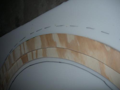 Marking foam to cut
