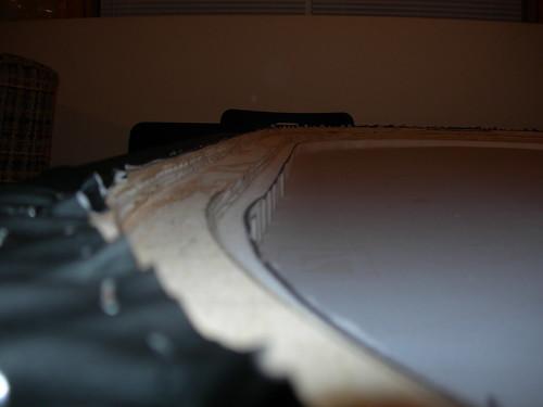 Closeup under rail (half done)