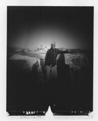 Leonard Knight 10-14-2006 (pinholery) Tags: polaroid pinhole type55 largeformat saltonsea zeroimage 25mm salvationmountain imperialvalley leonardknight zero45 6millionpeople