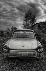 Dream machine (Stevacek) Tags: bw junk czech rustbucket allotment hdr trabant jalopy jicin staremisto