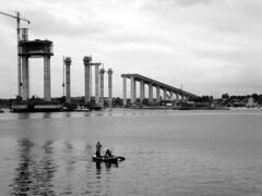 (Anitah) Tags: blackandwhite bw natal barco pb ponte pretoebranco rn construo riopotengi anitah anages