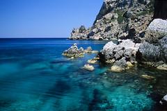 Pool (Walter Quirtmair) Tags: karpathos eos300 film greece swq june 2006 takenbywalter saria rocks water sea pool blue