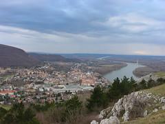 Austria, Danube on border with Slovakia (Twilight Tea) Tags: 2001 austria january danube  hainburganderdonau