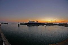 St Helier Harbour at dusk