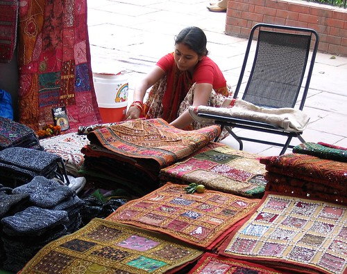 Rug Seller, Connaught Place, Delhi