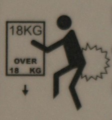 Danger of letting one rip when chopping of feet by dropping something of 18kg or heavier