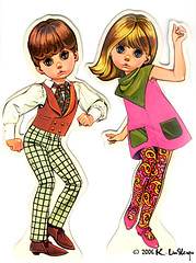 The Mods Paper Dolls (peppermint kiss kiss) Tags: paper mod doll lee 1967 paperdolls bigeyeart themods