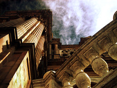 Catedral (Lou Rouge) Tags: sky espaa architecture spain arquitectura cathedral catedral cielo duomo drama malaga architettura barocco barroco thegallery lourouge balaustrada abigfave 30faves30comments300views gettyimagesspainq1