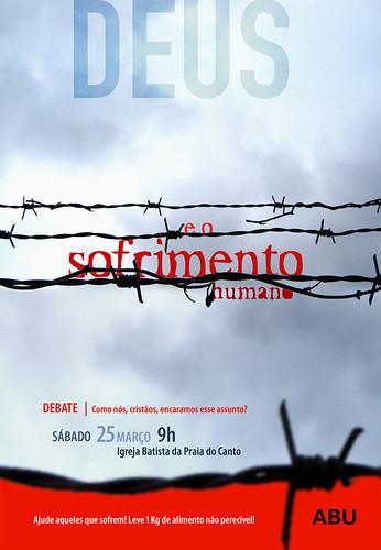 ABUB Debate sofrimento - cartaz por Tiago da Costa | Design Gráfico.