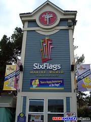 clock tower (ezeiza) Tags: california clock logo clocktower amusementpark sixflags vallejo themepark sixflagsmarineworld 20061104