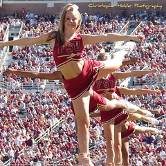 FSU vs Virginia from the sidelines 050 (Christopher Holder Photography) Tags: cheerleaders fsu seminoles