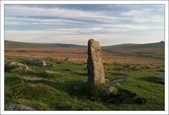 Ancient Signpost, Dartmoor. (Ned of the Hill) Tags: uk ancient britain circles hut devon prehistoric tavistock dartmoor ashburton standingstone merrivale merrivalestonerow ancientsignpost prehistoricdartmoor