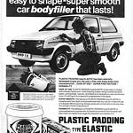 Plastic Padding Bodyfiller retro car advert