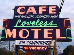 Loveless Cafe Neon Sign before dusk (SeeMidTN.com (aka Brent)) Tags: neon nashville tennessee nashvilletn lovelesscafe nashvilletennessee acehigh highway100 brentandmarilynnpersonalfavorite bmok bmoknvsign bmokneon bmokmotel