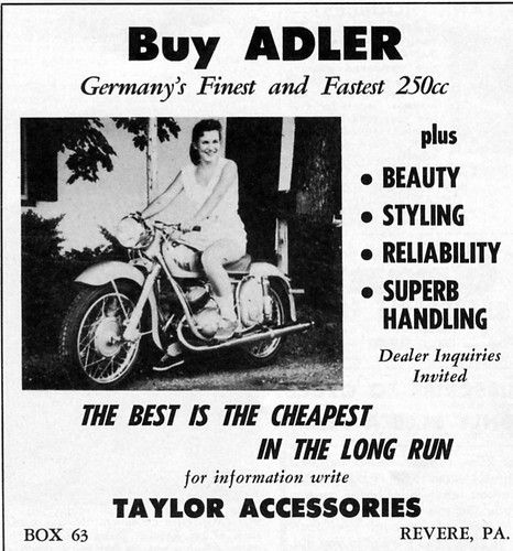 Adler 250 Motorcycle Ad