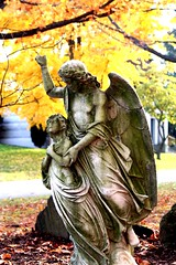IMG_4492_1 (sadandbeautiful (Sarah)) Tags: autumn fall statue angel cemetary