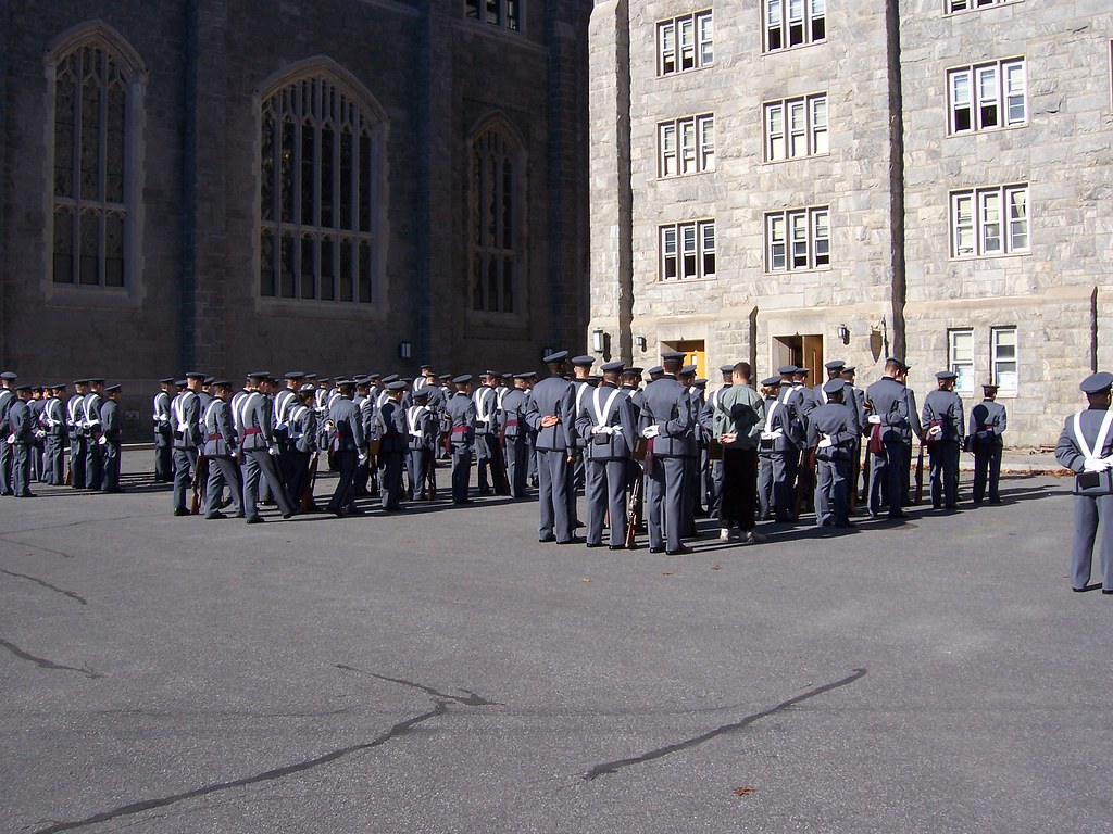 Cadets in formation