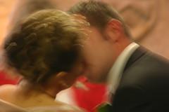 The kiss (Chrissie64) Tags: wedding people motion blur love groom bride movement kiss flickr emotion ceremony marriage romance romantic lovepeace weddingday vows thekiss inlove brideandgroom weddingkiss abigfave