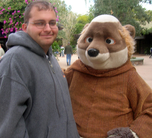 Me and Friar Tuck in the Oasis at Disney's Animal Kingdom, 2006.
