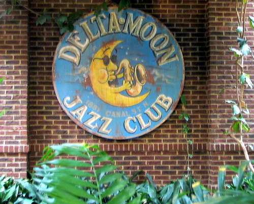 Opryland Hotel: Delta Moon Jazz Club Sign