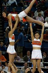 2005 UTEP cheer white bridge (The Camera Eye) Tags: 2005 basketball cheerleaders dancers wac