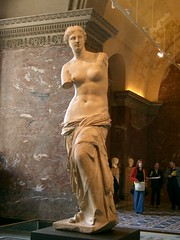 Venus de Milo in the Musee de Louvre