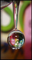 Water Drop Reflection (RayDS) Tags: pictures camera color macro reflection water club digital speed reflections photo droplets high waterdrop colours action sony pic drop cameras refraction droplet waterdrops acqua colori dsc goccia gocce h5 sixsixsix colorate rayds