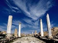 grand entrance (Dan65) Tags: road sky archaeology stone clouds greek ruins roman columns entrance cyprus explore pillars archeology 34 wispy turkish famagusta salamis bluelist