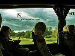 on the road by bus (_tonidelong) Tags: road españa bus fall girl spain carretera babe badajoz otoño autobus ontheroad dehesa extremadura caceres