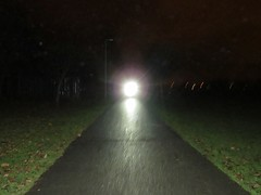 Walk Backwards into the light (gallftree008) Tags: a heavenly light moving towards me bicycle with led cycling while i am walking backwards ok jacko park swords co dublin ireland perspective lights lightingeffects green path pathway footpath surreal abstract weird strangeeffect eerie creepy scary alien dark darkness morning codublin county classic dub eire fingal grass irish jackopark reflection reflective reflected reflections underthetrees vanishing vanishingpoints