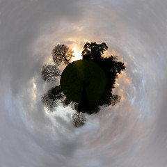 Nymans Garden, Sussex (chilsta) Tags: uk trees sunset panorama clouds garden sussex panoramic planet nymans nyman