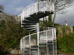 Metal Staircase. (Plymography) Tags: park uk england urban west tower metal stairs swimming swim river scott observation spiral memorial path south platform plymouth mount devon staircase pools wise tamar devonport costal jasonnolan plymography plymouthphotography wwwplymographycom plymographycom