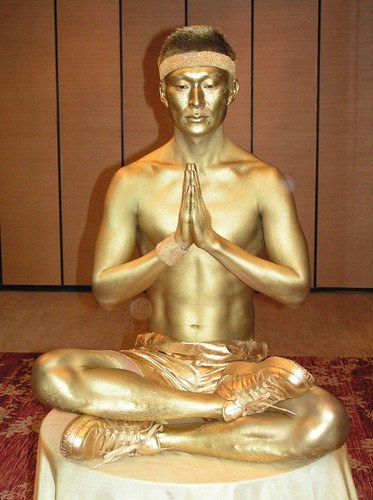 Gold Statue Body Painting