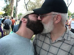 Frisky at San Diego Pride (LB Bearcub) Tags: bear beard kiss couple boyfriends sandiegopride