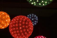 Christmas Balls (bentilden) Tags: seattle christmas decorations usa night pentax balls spaceneedle washingtonstate istdl