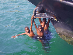 Swimming Boys (The Wandering Angel) Tags: africa travel boys swimming children senegal dakar