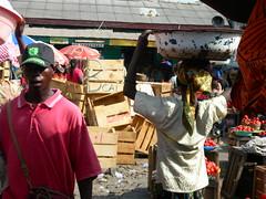 Woman Trader In Accra's Makola Market, Ghana