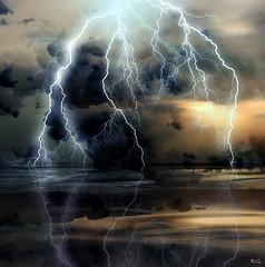 God's Fireworks (Ms Ladyred) Tags: nature water beauty clouds bravo fireworks lightning abigfave anawesomeshot impressedbeauty flickrplatinum