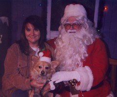Rusty And Me With Santa