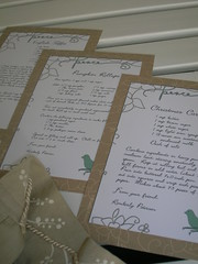 apron swap recipe cards