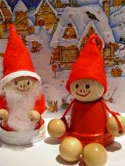 Weihnachtswichtel und Nikolaus