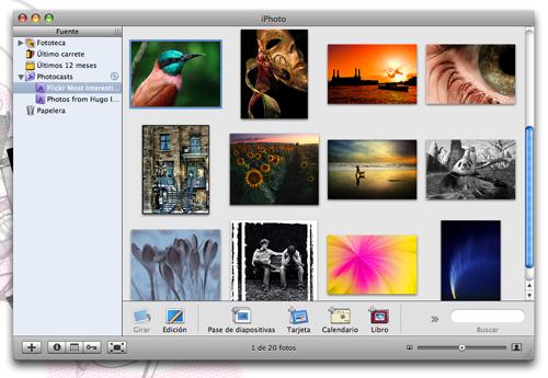 Photocast con las mejores fotos de Flickr en iPhoto
