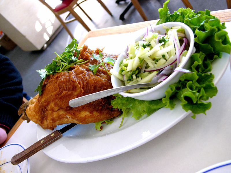 yai thai fried catfish