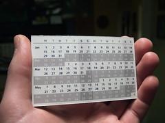 Calendar Card - Design 3