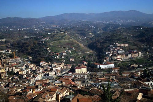 View of Cosenza on the way up to the Castello
