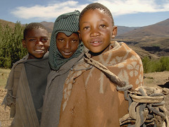 Lesotho, Young shepherds (pho_kus) Tags: africa boys children shepherd young lesotho abigfave isawyoufirst