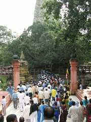 Mahabodhi Temple   entering the Temple 2