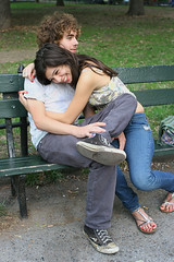 Young Love (Jonathan!) Tags: portrait woman newyork man love washingtonsquare